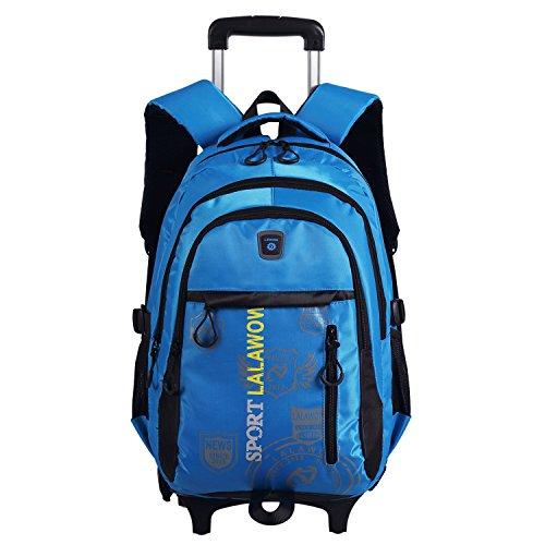 Lalawow SMONTABILE borsa di scuola con ruote zaino di...