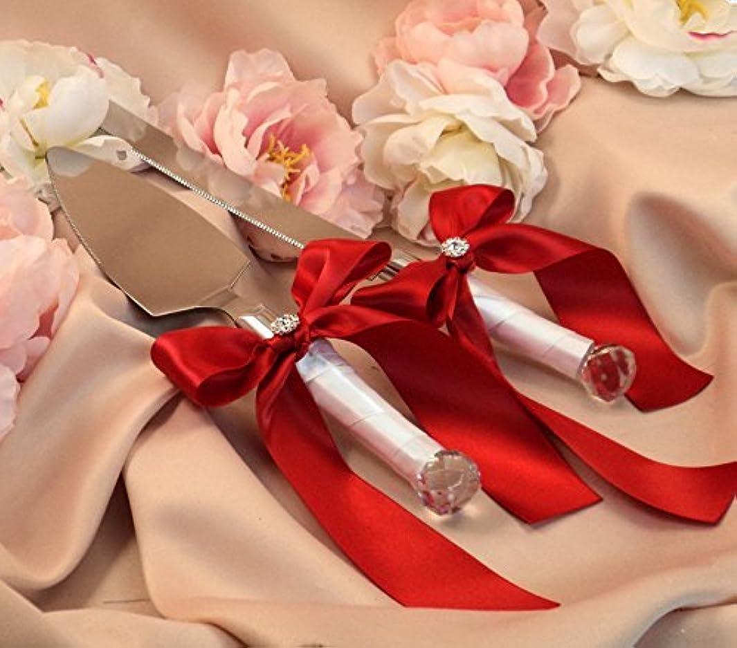 のぞき穴ミニチュアカポックPoprain ウェディング用品 結婚式ナイフ セット と ギフトボックス2個 ステンレス鋼の刃 結婚記念日 ハンドル ウエディング ケーキナイフ 13カラー 10 家庭用品