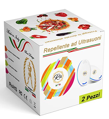Repellente Ultrasuoni Professionale per Topi Insetti | Antizanzare |Scaccia e Allontana Ratti Ragni Scarafaggi Zanzare Formiche