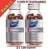 Phyto phytophanere suplemento alimenticio cabello y uñas–4meses de tratamiento–120+ 120°Cápsulas