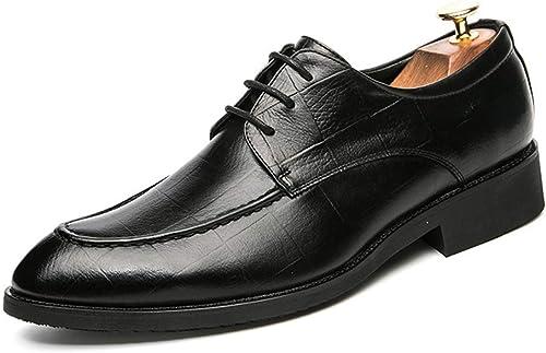 JUJIANFU-Bequeme Schuhe Herrenmode Oxford Casual Style Imitation Fleece-Innenrasterlinien Komfortable und niedrige Top-Formale Schuhe (Schema optional)