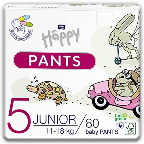 bella baby Happy Ökopack Pants Gr.5 Junior 11-18 kg 80 Stück