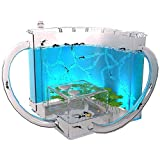 FXQIN Granja De Hormigas, Permite el Estudio del Comportamiento de Las Hormigas y la Estructura Social, ecosistema Dentro del Laberinto 3D de Gel translúcido, (Azul)