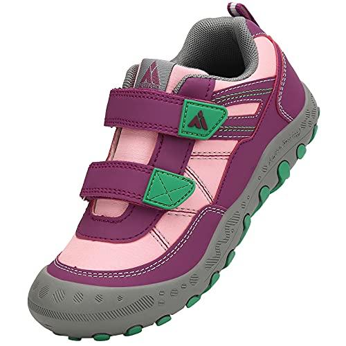 Mishansha Zapatos Colegio Niña Zapatillas de Montaña Ligeras Zapatos Niños Antideslizante Zapatos de Trekking Zapatillas de Senderismo A Rosa Gr. 27