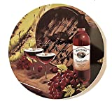 Wine and Grapes Stove Burner Covers -Set of 4 Electric or Gas Covers Kitchen Decor