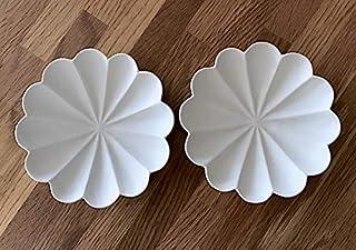 2枚セット 臼杵焼 usukiyaki 輪花十二弁皿 SS 小皿 4寸 白磁 型打ち 白釉 幻の焼き物の復興 日本製 国産 大分県 臼杵市 四寸 コレクション