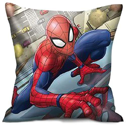 Coussin rembourré 40 x 40 Spider-man en polyester imprimé face arrière sous licence Marvel Produit original.