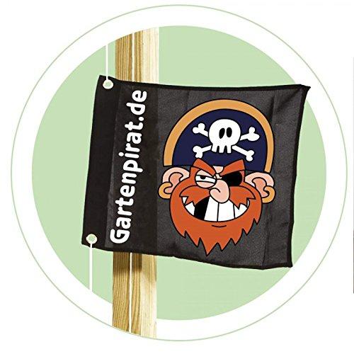 Gartenpirat-Flagge mit Hisssystem Kinder-Fahne Zum Hissen