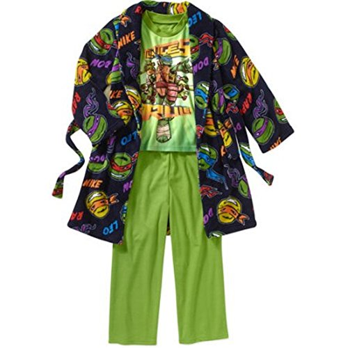 Teenage Mutant Ninja Turtles Boy 3 PC Bathrobe Pajama Set Size 6/7