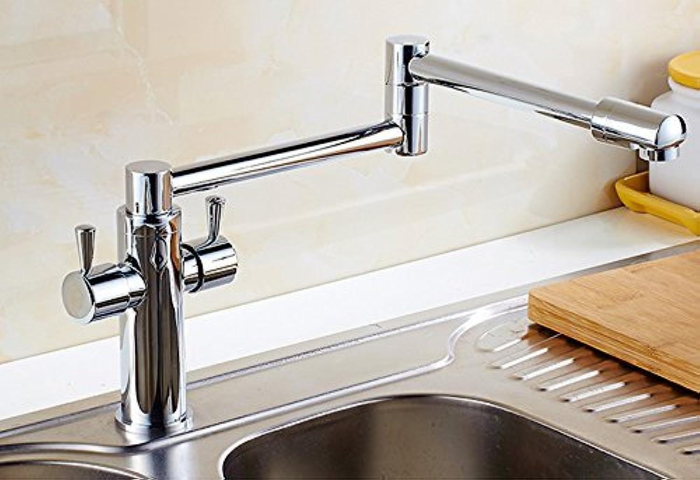DYR Wasserhahn Europischen Stil Gold Wasserhahn Archaize Europischen Stil Gemüse Becken Wasserhahn Küche Heien Und Kalten Wasserhahn (Farbe    1)