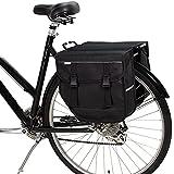 BikyBag Modello M - Bicicletta doppia borsa da bicicletta per portapacchi posteriore (nero)