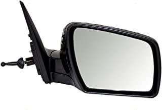 Passengers Manual Remote Side View Mirror Ready-to-Paint Replacement for Kia KI1321160