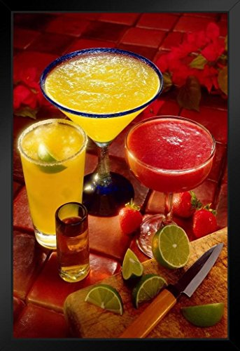 Margaritas and a Shot Photo Photograph Art Print Stand or Hang Wood Frame Display Poster Print 9x13