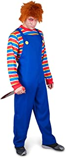 Men's Evil Doll Costume - Halloween Costume Party Accessory