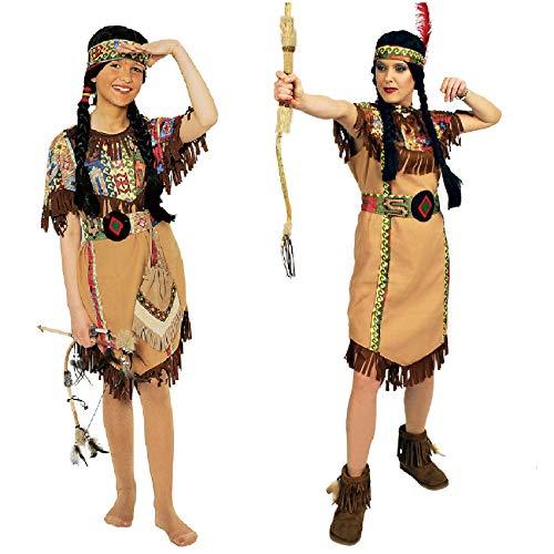narrenkiste K31250652-116-128 - Vestido para niña (tallas 116-128), color marrón
