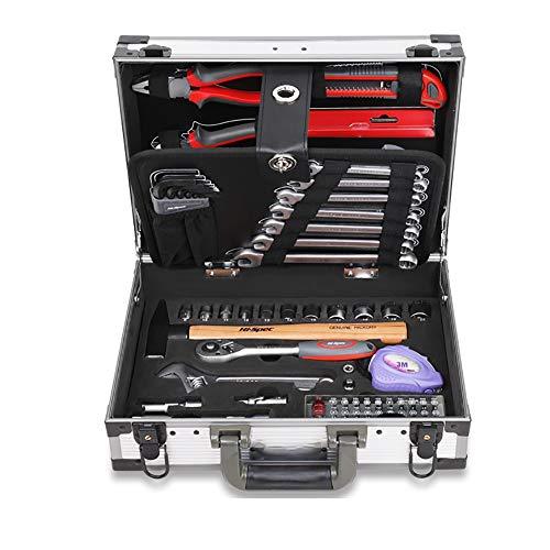 Caja de herramientas del vehículo Conjunto de herramientas de la herramienta de la mecánica doméstica de 91 piezas El kit de la herramienta de la mano de la mano del hogar de la firma general con la c