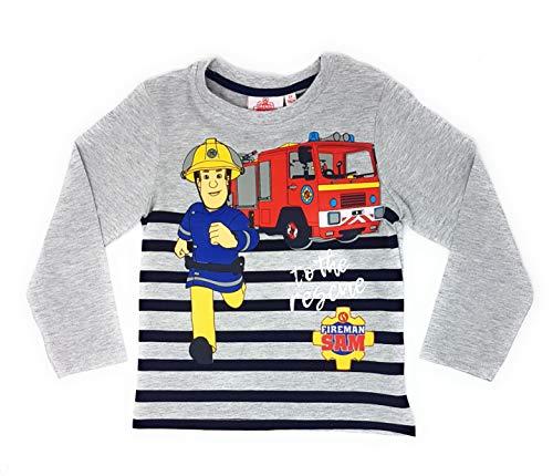 Feuerwehrmann-Sam Jungen Langarmshirt (Grau, 110)