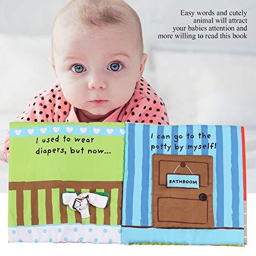 Annjom Wiederverwendbares Badetuchbuch Stoffbuch, kognitive Entwicklung Ungiftiges Lehrbuch, waschbar, um dem Baby das Baden beizubringen. Verbessern Sie die(Toilet Cloth Book)