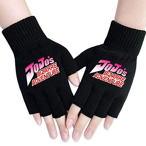 FITtrame JoJo's Bizarre Adventure Gloves Warm Jotaro Kujo 3D Printed JoJo Finger Cosplay Costumes (01)