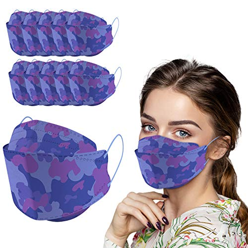 10/20/30/40/50 PC 4-Layers Premium Protective 𝕂𝔽94 Certified Face Safety for Adult (Multicolor, 30)