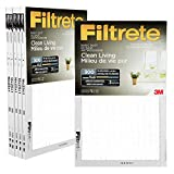 Filtrete 16x25x1 MPR 300 Pleated AC Furnace Air Filter, Basic Dust Clean Living