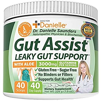 Gut Assist - Leaky Gut Repair Supplement Powder - Glutamine Arabinogalactan Licorice Root - Supports IBS Heartburn Bloating Gas Constipation SIBO from Doctor Danielle