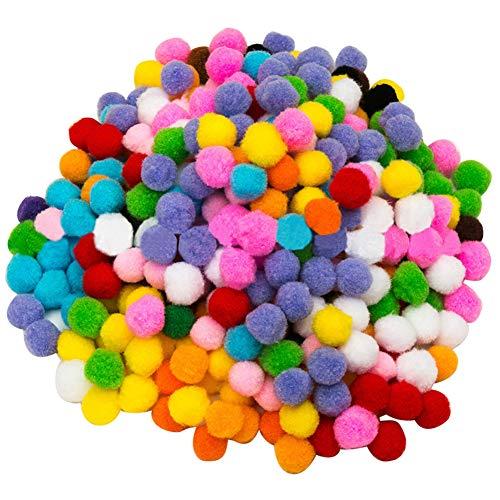 2000 Stück Pom Pom bälle Flauschigen Plüsch, Hobbybedarf und DIY-Basteldekorationen,5 mm verschiedene gemischte Farben Soft Flutty Mini Pom Poms für Kunst