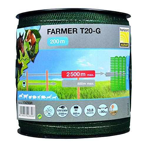 Horizont Large Agriculteur T20-G, 20mm, Vert - 200m