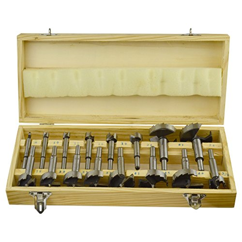 16PC Forstner Bit Set/Wood Drill/Boring Flat Bit Set 6mm - 54mm TE638