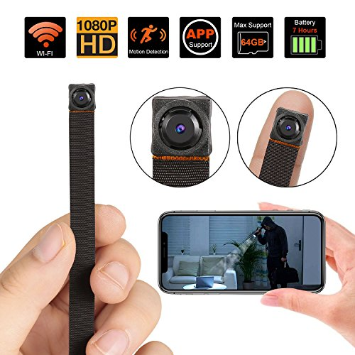 Mini Spy Camera, WiFi Hidden Camera Wireless 1080P HD Security Camera with Motion Detection Nanny Camera Cam for Home Office, Fit Indoor & Outdoor