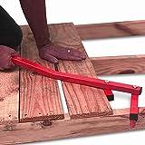 CPROSP Decking Straightening Tool Deck Board Bender Straightener Bending Carbon Steel Srtaightener 66CM/26In Weight 1.5KG Universal Wood Universal