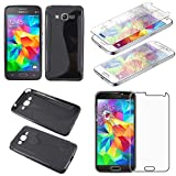 ebestStar - Compatible Coque Samsung Grand Prime Galaxy G530F, Value Edition G531F Etui Housse Silicone Gel Souple Motif S-Line,...