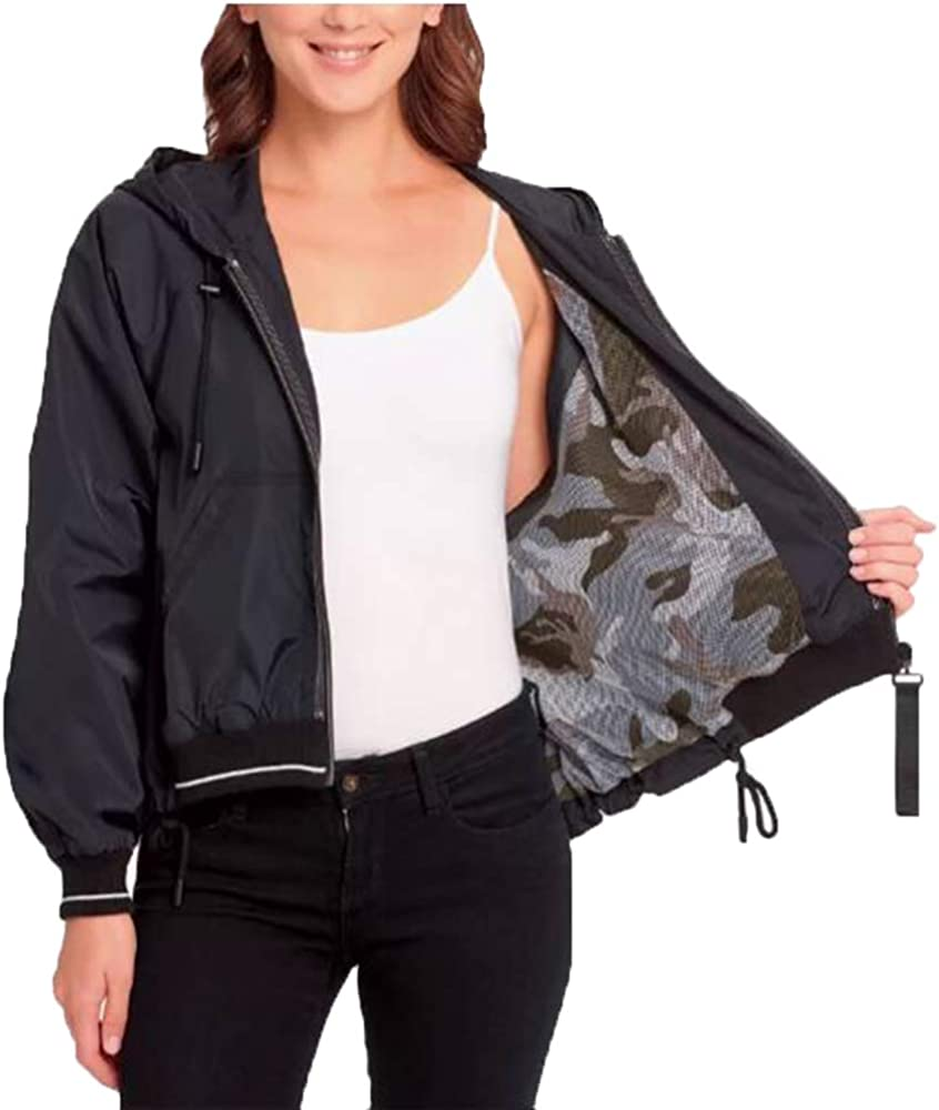 Dkny Zipper Closure Windbreaker Jacket For Black Max 47% OFF Max 78% OFF Snm Women X