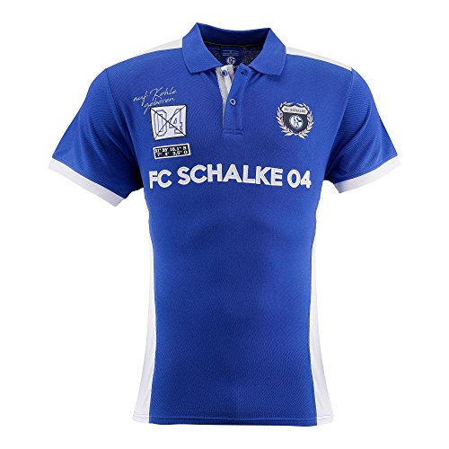 FC Schalke 04 Herren Polo-Shirt Wappen königsblau (XL)