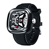 Zeblaze Hybrid 2 Hybrid Smartwatch with Real Watch Hands and Hidden Color Screen Displays, Activity Tracker with Heart Rate Monitor, 50M Waterproof, Hybrid Smartwatch for Men and Women (Black)