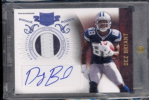 2010 PLATES AND PATCHES DEZ BRYANT AUTO PATCH /25 RARE