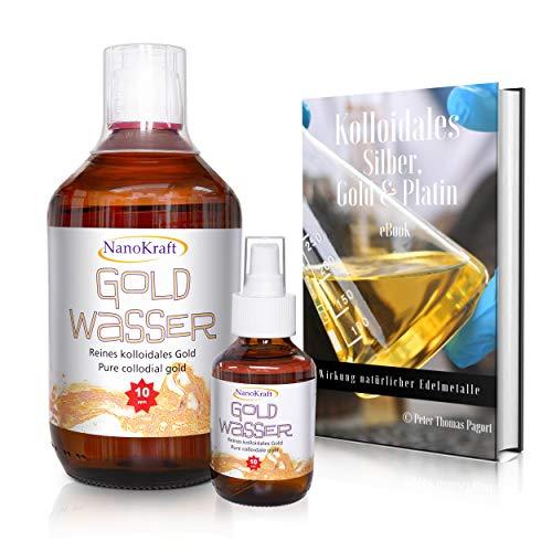 Coloidal Gold 1000 ml/10 ppm ✅Agua dorada rosa con botella pulverizadora de...