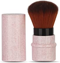 LHEI Pink Retractable Kabuki Brush Makeup Brush Foundation Travel Retractable Kabuki Brush Blush Brushes Move New Extensible Concealer Brushes Cosmetic Tool