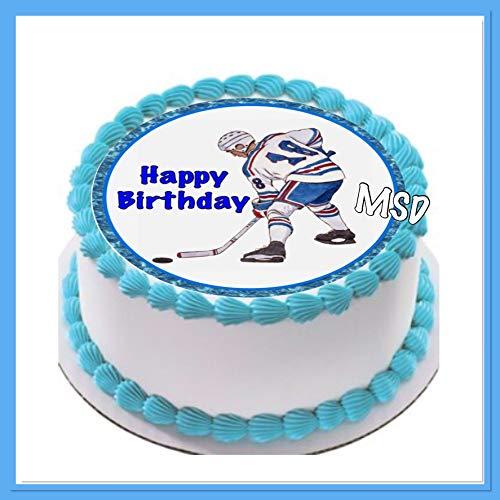 MSDeko Tortenaufleger Geburtstag, Tortendeko Eishockey M2