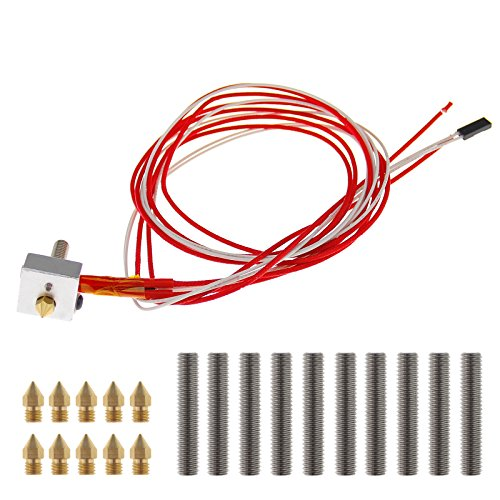 DIY Nozzle Hot End Kit 0.02inch Compatible with M6 Extruder i3 A2 A8 A6 3D Printer