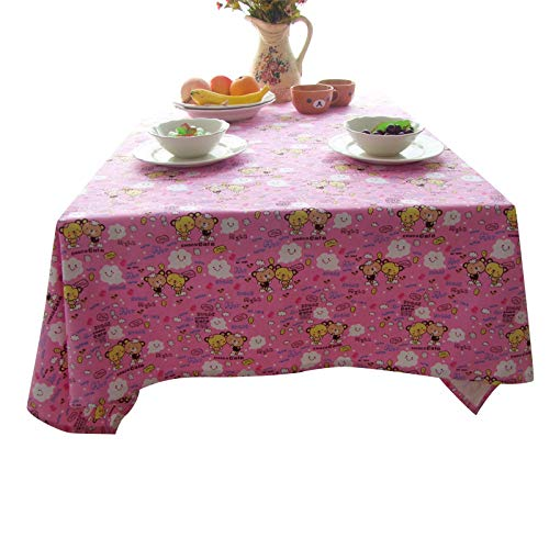 marca blanca New table cloth fabric rectangular coffee table cover home TV bedside table cover towel pink/blue 120 * 120cm