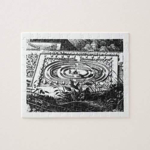 Tamengi Laberinto en Heidelberg, Hortus Palatinus (grabado Rompecabezas 1000 500 piezas
