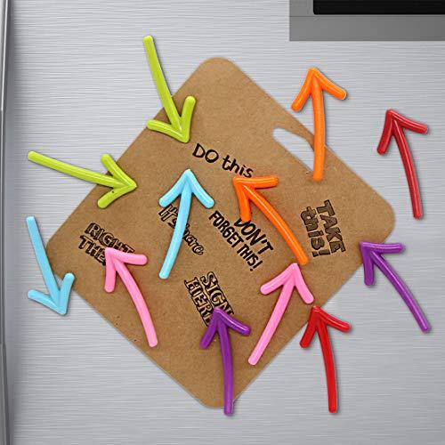 12pcs Magneti da frigorifero a forma di freccia Adesivi magnetici creativi per lavagna magneti per frigorifero per foto, magneti decorativi belli per regali di festa, decorazioni per la casa