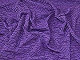 Minerva Crafts Texturierter Jersey-Stoff, Violett,