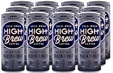 High Brew Cold Brew Coffee Dairy free- Black & Bold, 8 Fl Oz (Pack of 12), Package may vary