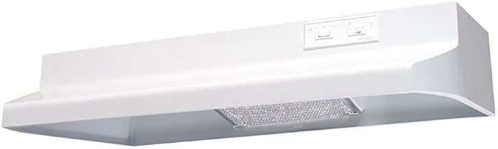 Air King AD1303 Advantage Ductless Under Cabinet Range Hood with 2-Speed Blower, 30-Inch Wide, White Finish
