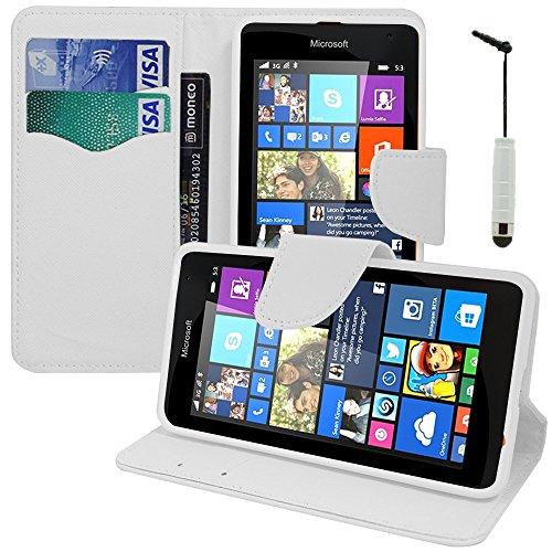 Nnm-Custodia a Portafoglio, con Supporto Video a Libro, con Flip, in Similpelle, Effetto Tessuto per Microsoft Nokia Lumia 535/535 Dual SIM