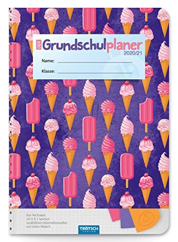Trötsch Schulplaner Grundschulplaner Ice Cream 2020/2021: Schülerkalender, Timer, Terminkalender, Hausaufgabenheft