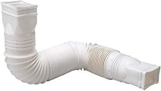 White Downspout Extender Vinyl Construction for Durability Rigid Corrugated Design Enables You to Bury, Connect or Bend the Extension Interchangeable Flex-A-Spout Components Create Custom Drainage