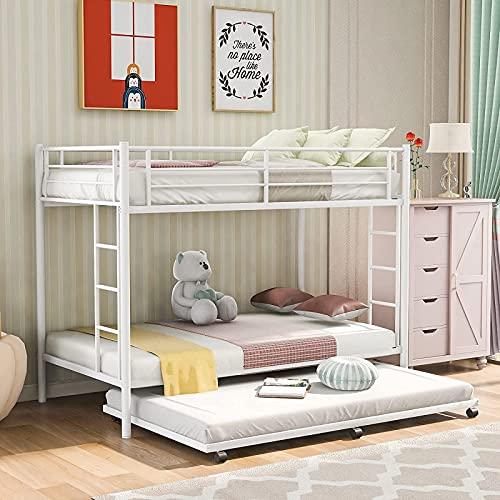 MWKL La litera de Metal más Nueva con Nido y escaleras y barandillas de Seguridad para niños, Adolescentes, Adultos, Dormitorio, Dormitorio